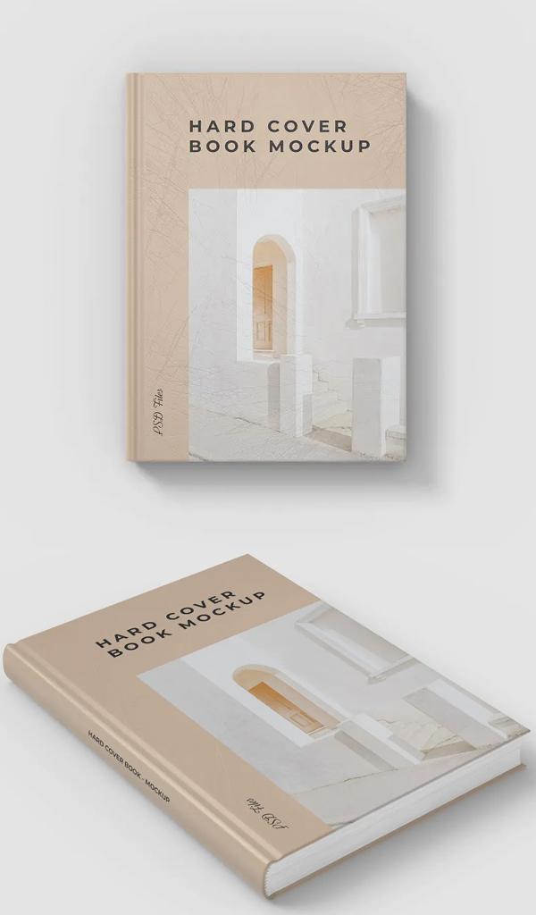 Unique Hard Cover Book Mockup