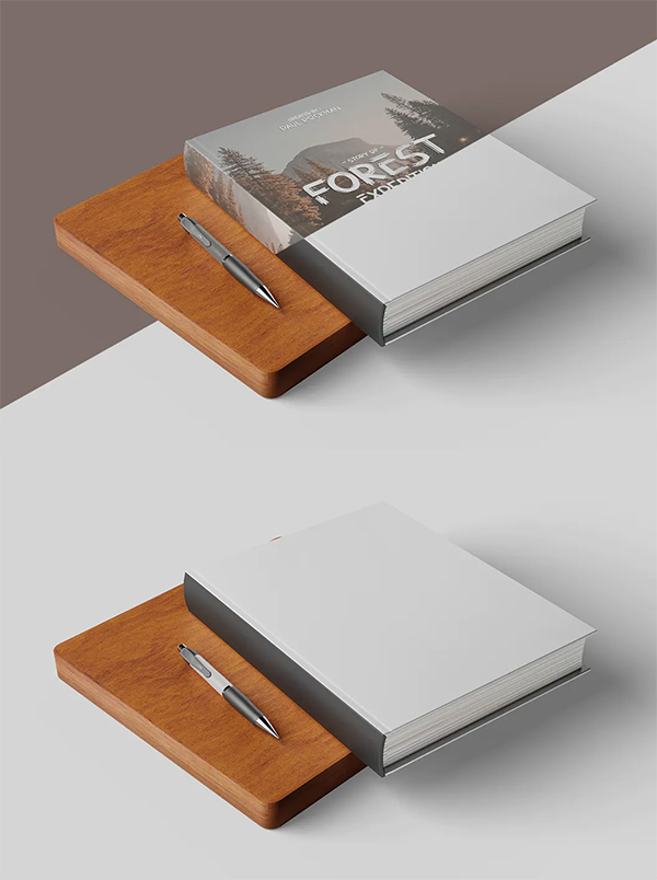 Forest Book Cover Mockup