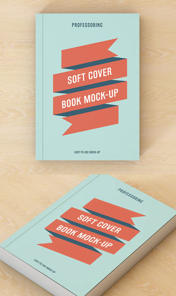 Best Soft Cover Book Mockup