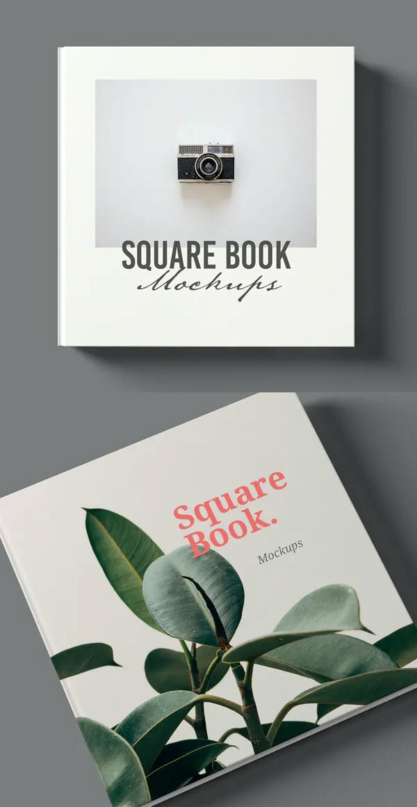 Perfect Square Book Mockup