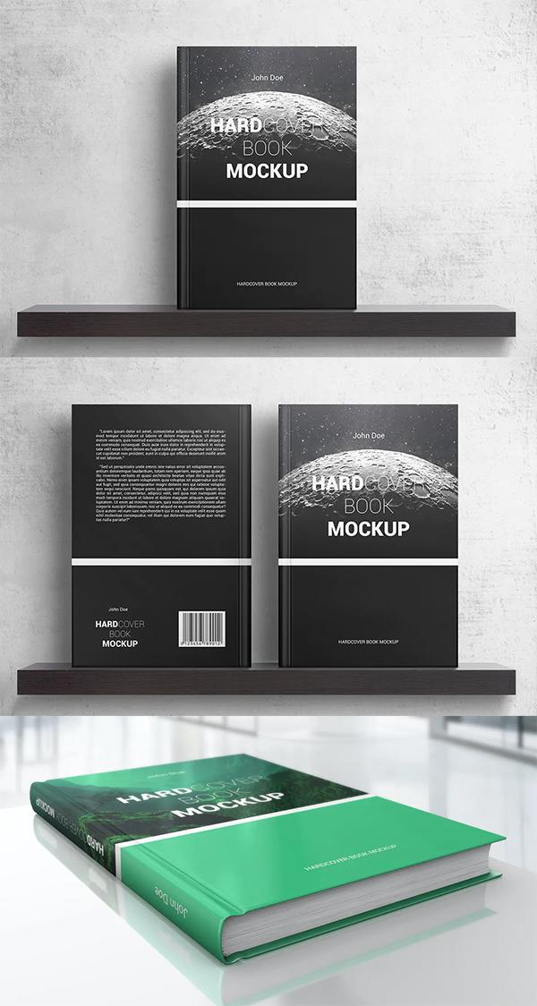 Attractive Unique Hardcover Book Mockup