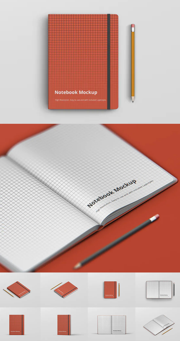 Awesome Notebook Mockup