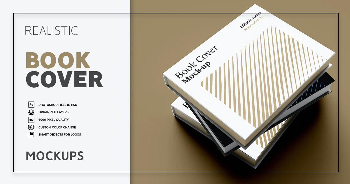 30+ Realistic Book Cove Mockups