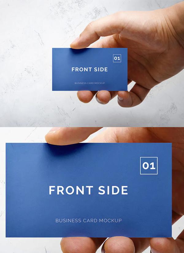 Unique Business Card Mockup