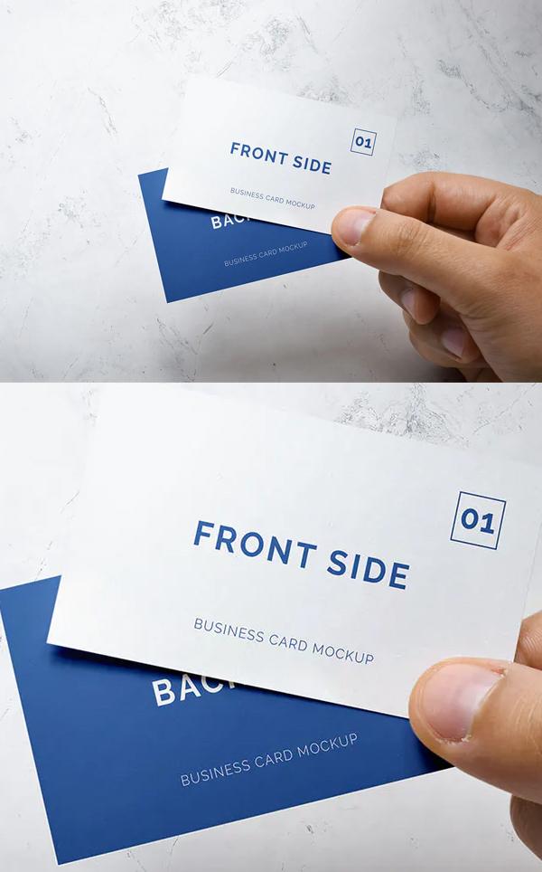Super Business Card Mockup
