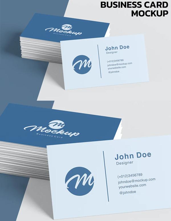 Simple Creative Business Card Mockup