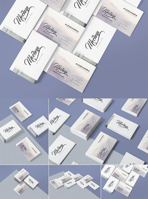 Simple Best Business Card Mockup