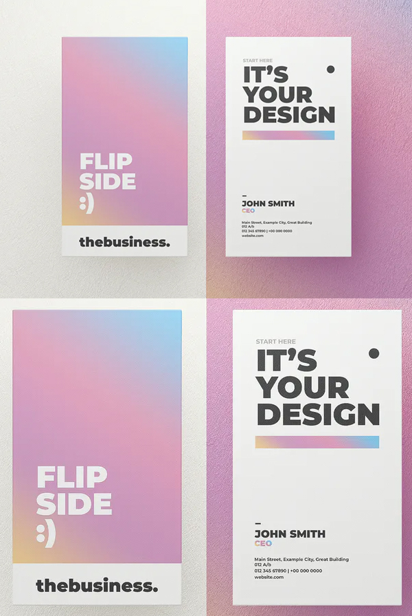 Gradient Business Card Mockup