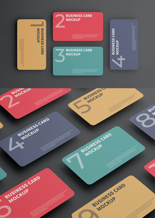 Colorful Business Card Mockup