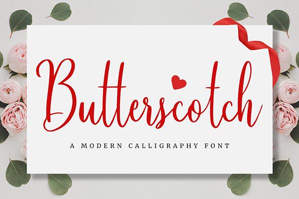 Butterscotch Calligraphy Font