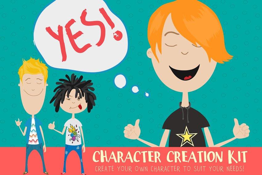 Cartoon character creation kit