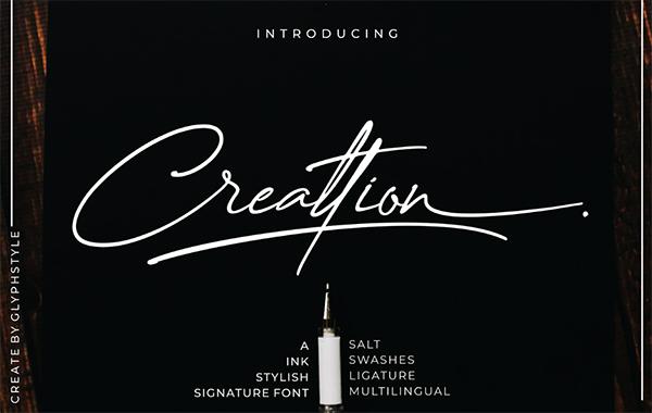 Creattion Signature Free Font