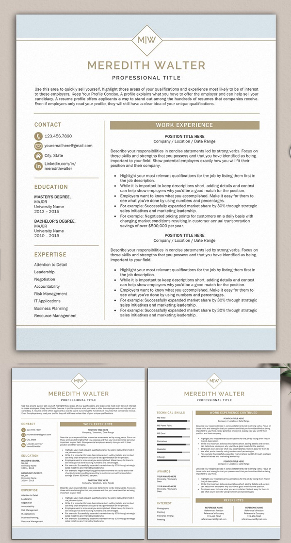Perfect Word Resume Template