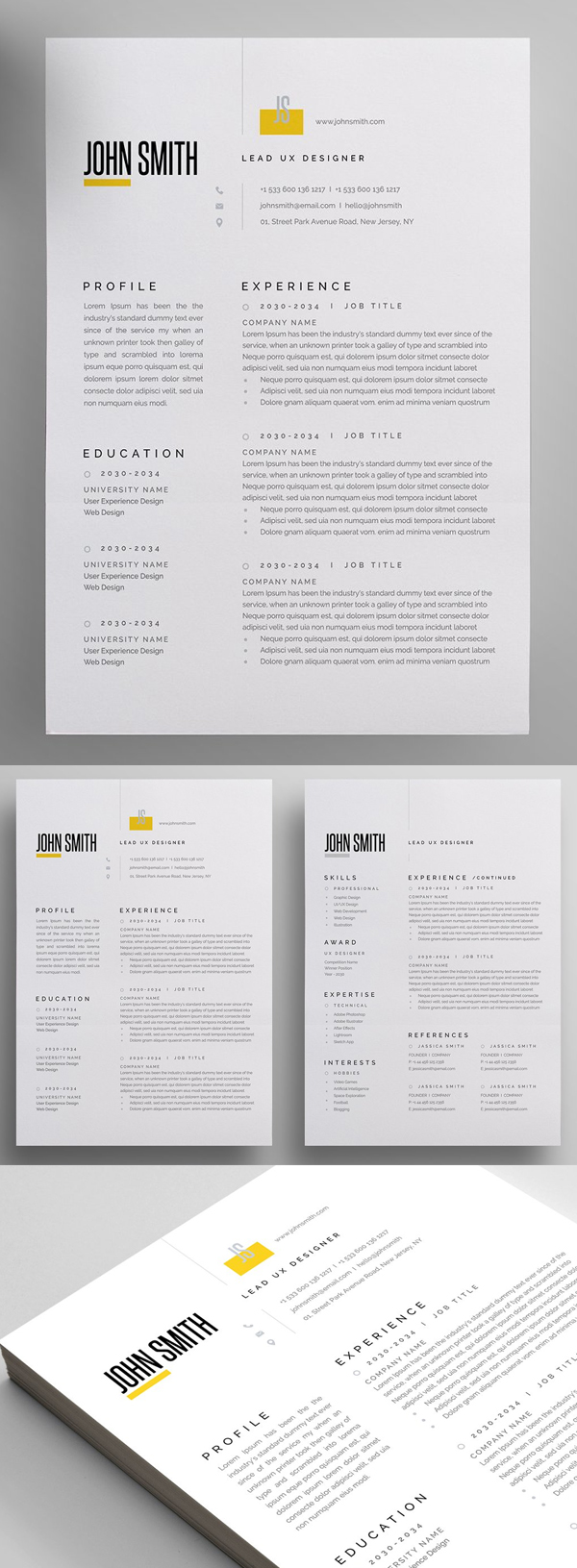 Modern and Professional Resume Template