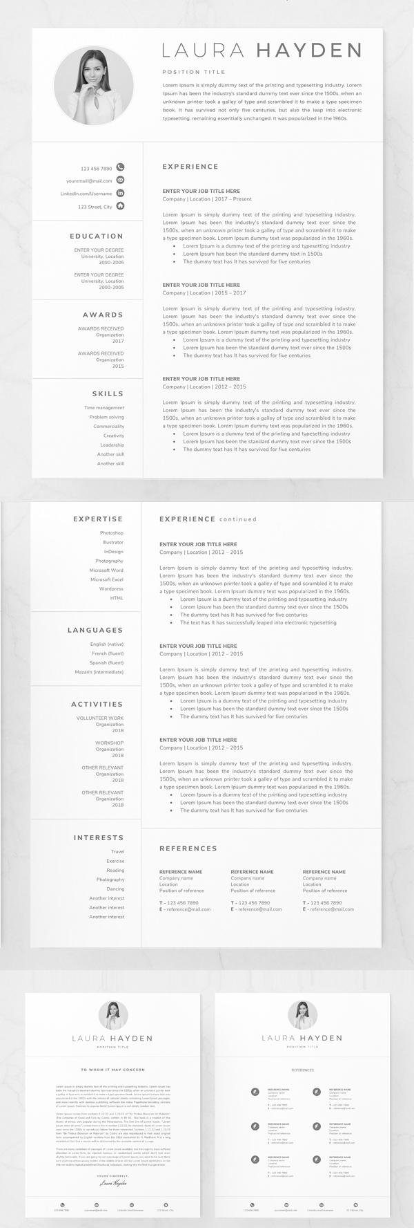 Clean Resume Template / CV Design