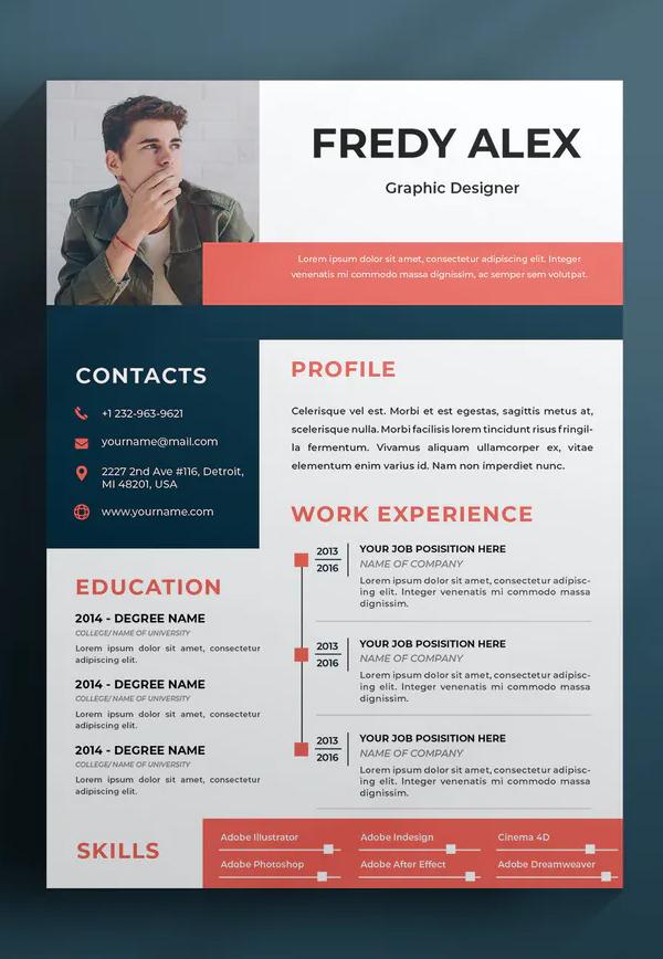 Modern Resume Design Font