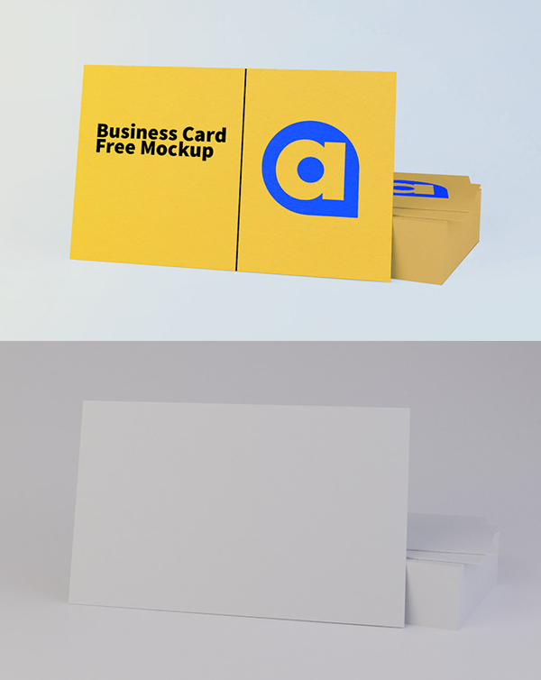 Free Business Card Mockup PSD Download