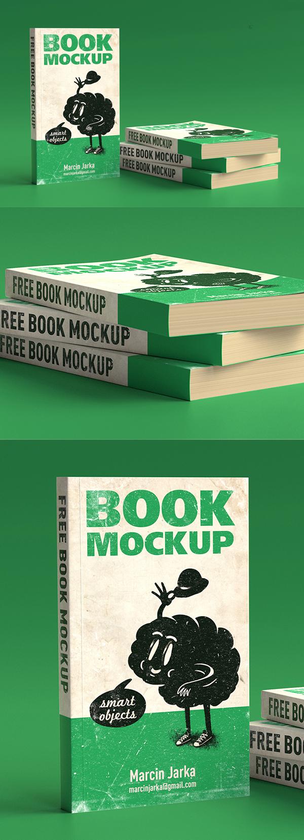 Free Book Mockup PSD Templates Free Font