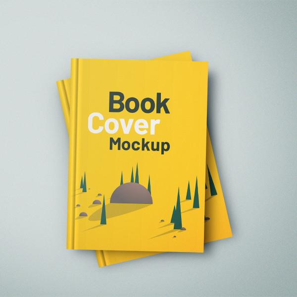 Free Hardcover Book Mockup Free Font
