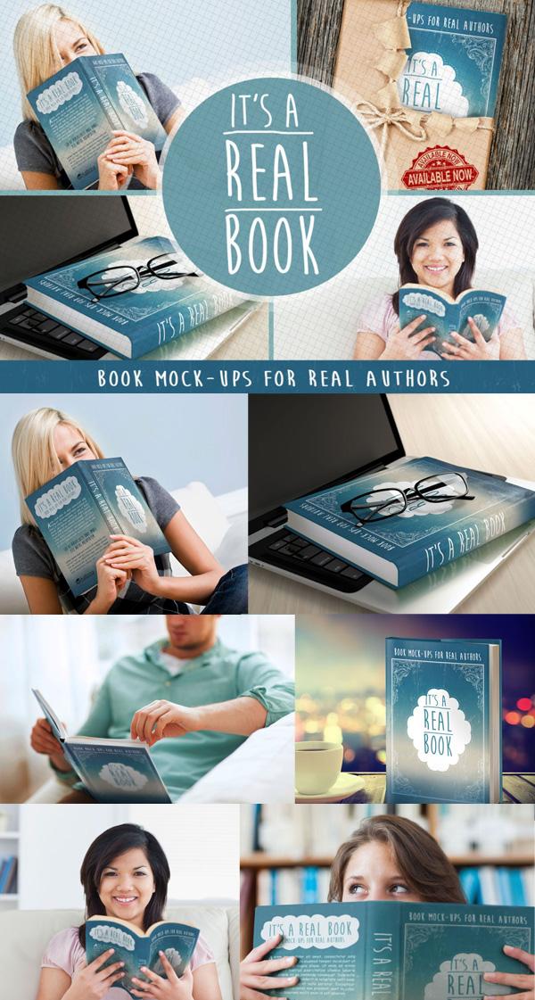 Free Photoshop Book MockUps Free Font