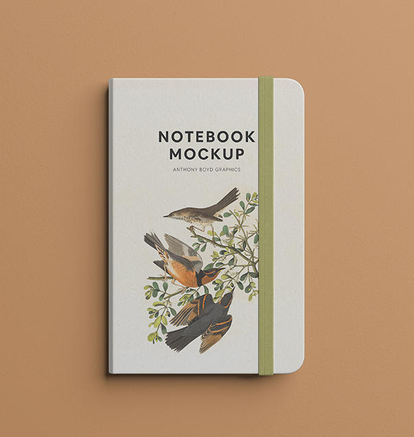 Free Notebook Mockup Top View Free Font