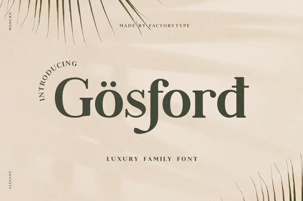 Gosford Font