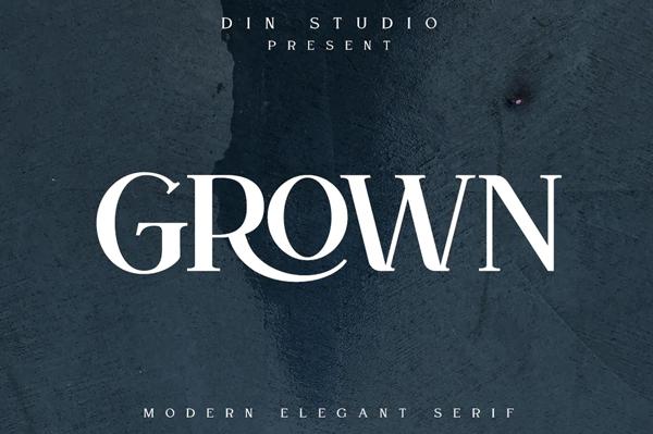Grown Serif Font