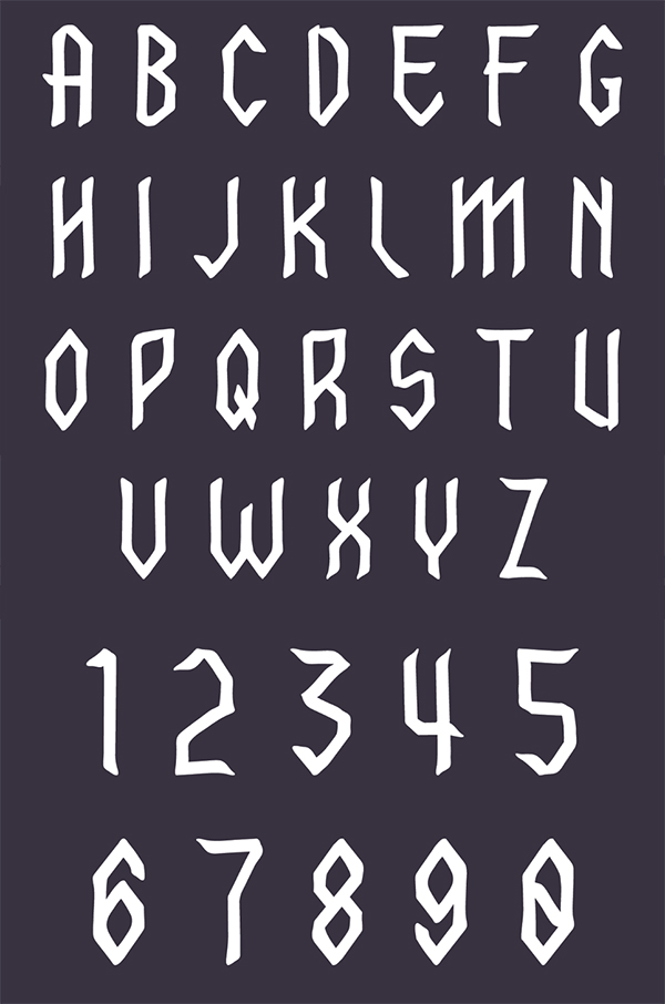 Font Letters and Numbers