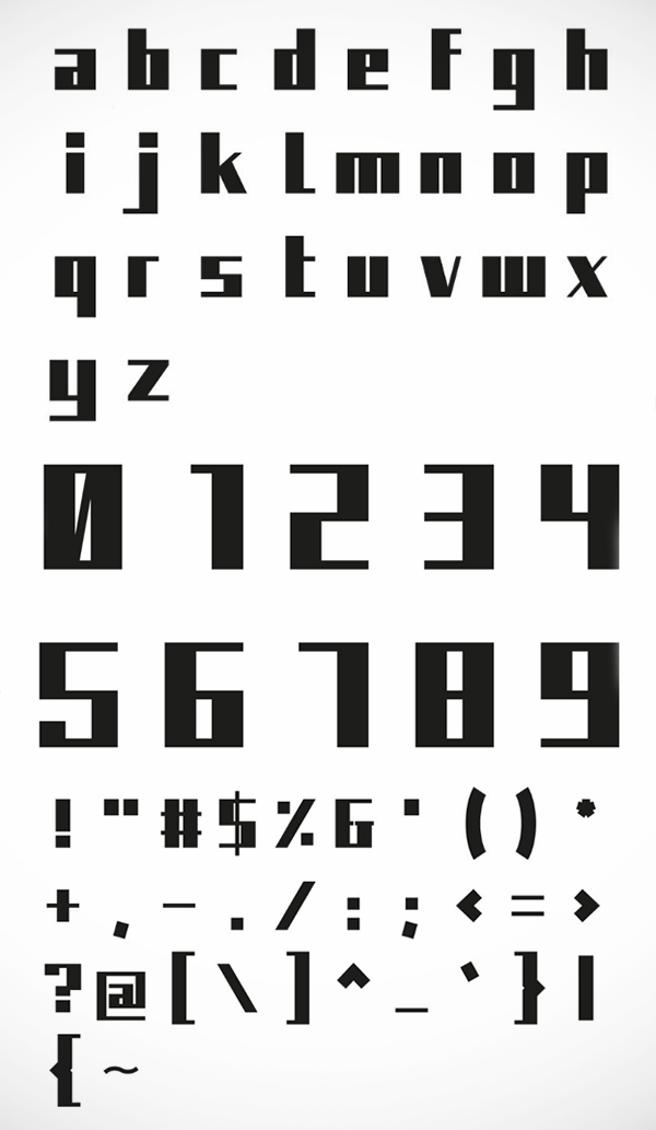 Kiyo Font Letters and Numbers