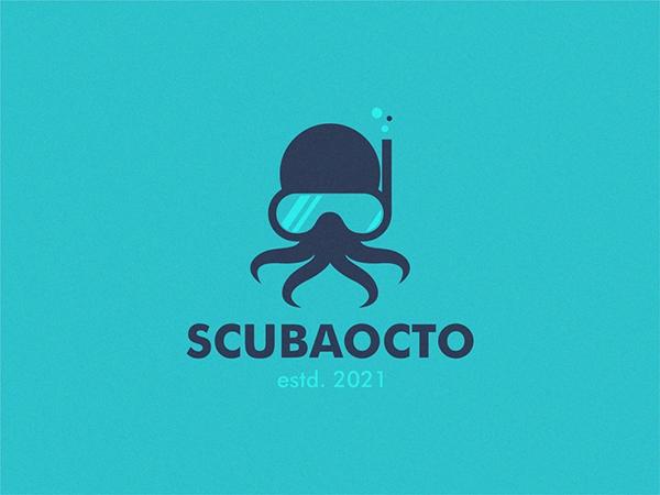 ScubaOcto Logo Design