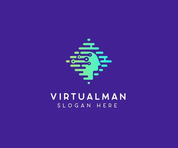 Virtualman Technology Logo Template