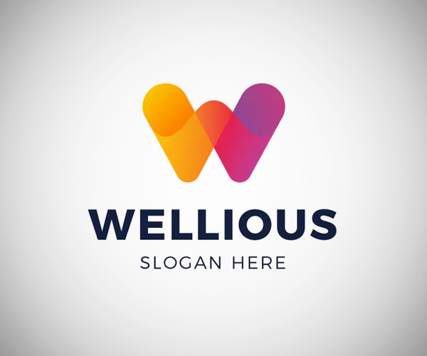 Letter W Colorful Logo