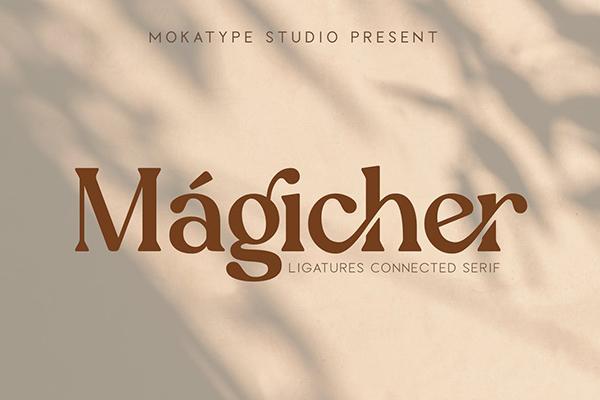 Magicher Ligatures Connected Serif Font