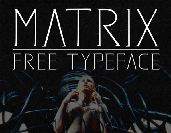 Matrix Free Font