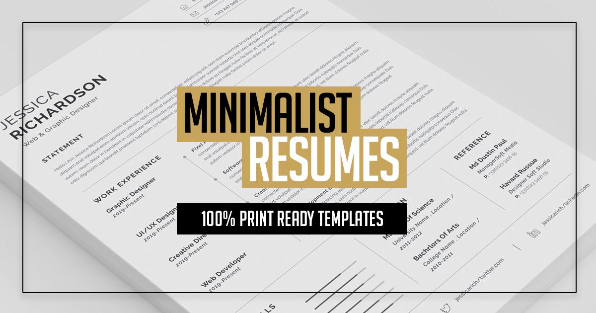 Clean Minimalist Resume Templates