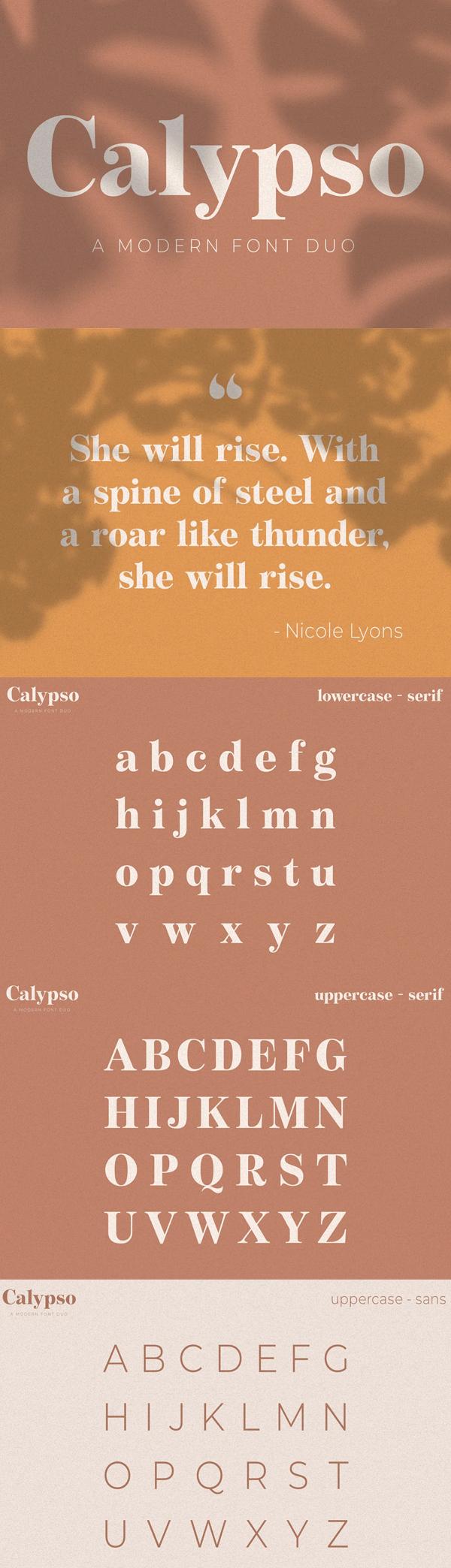 Calypso A Modern Font Duo