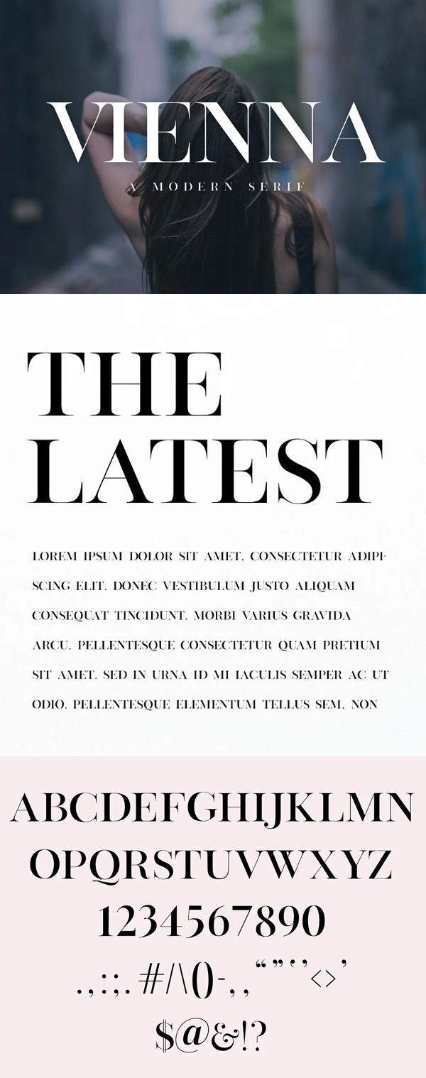 Vienna - Modern Serif Font