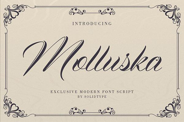 Molluska Script Font