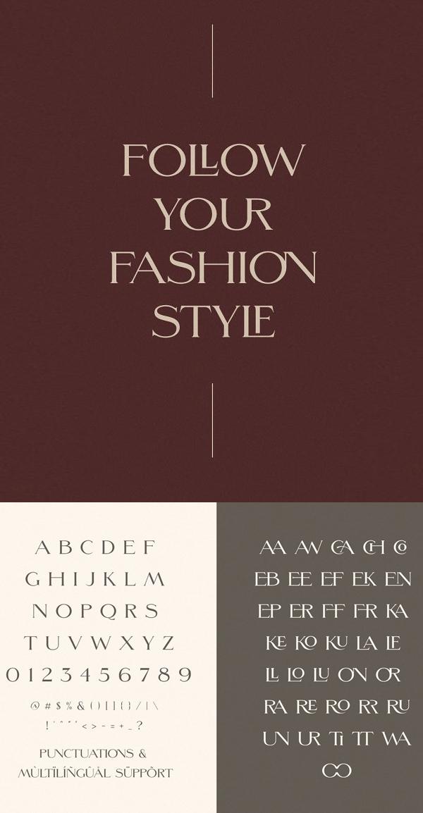 Morefren Serif Ligature Font