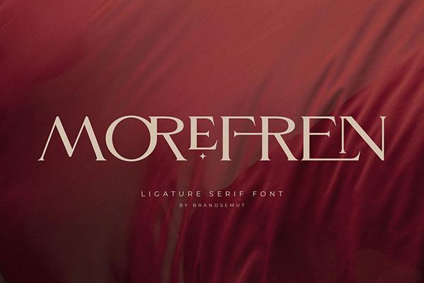 Morefren Serif Ligature Free Font