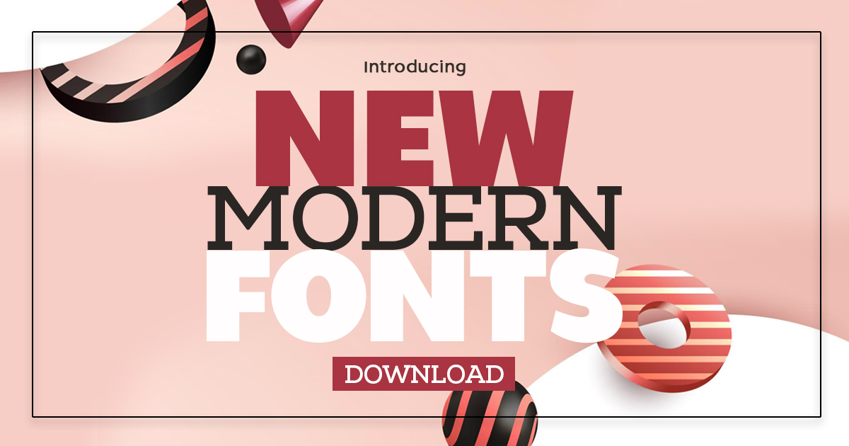New Modern Fonts For Designers