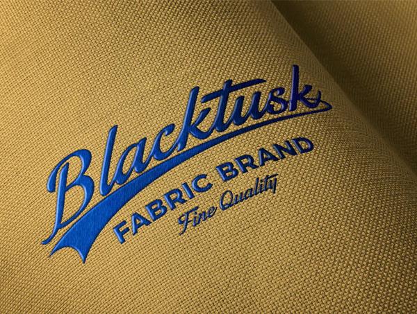 Embroidered Fabric Logo Mockup