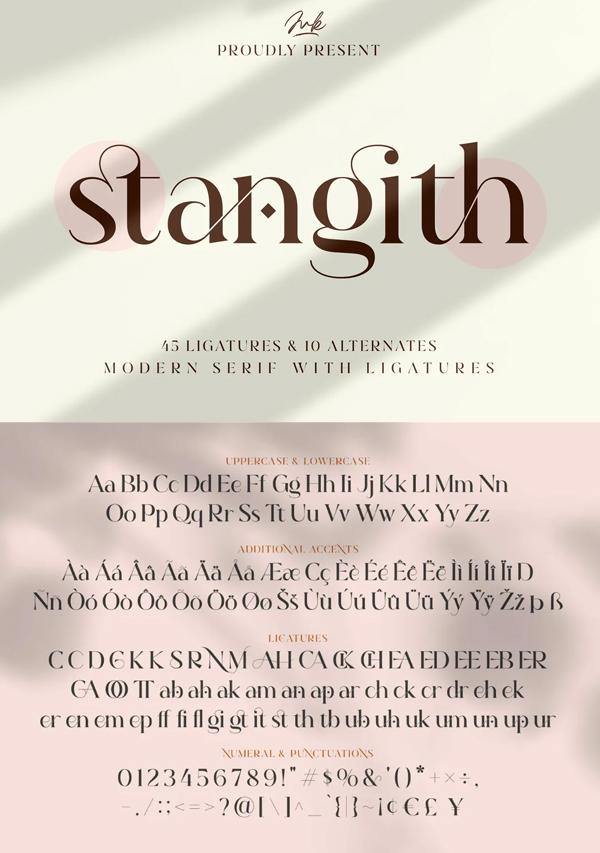 Stangith Modern Display Serif Font
