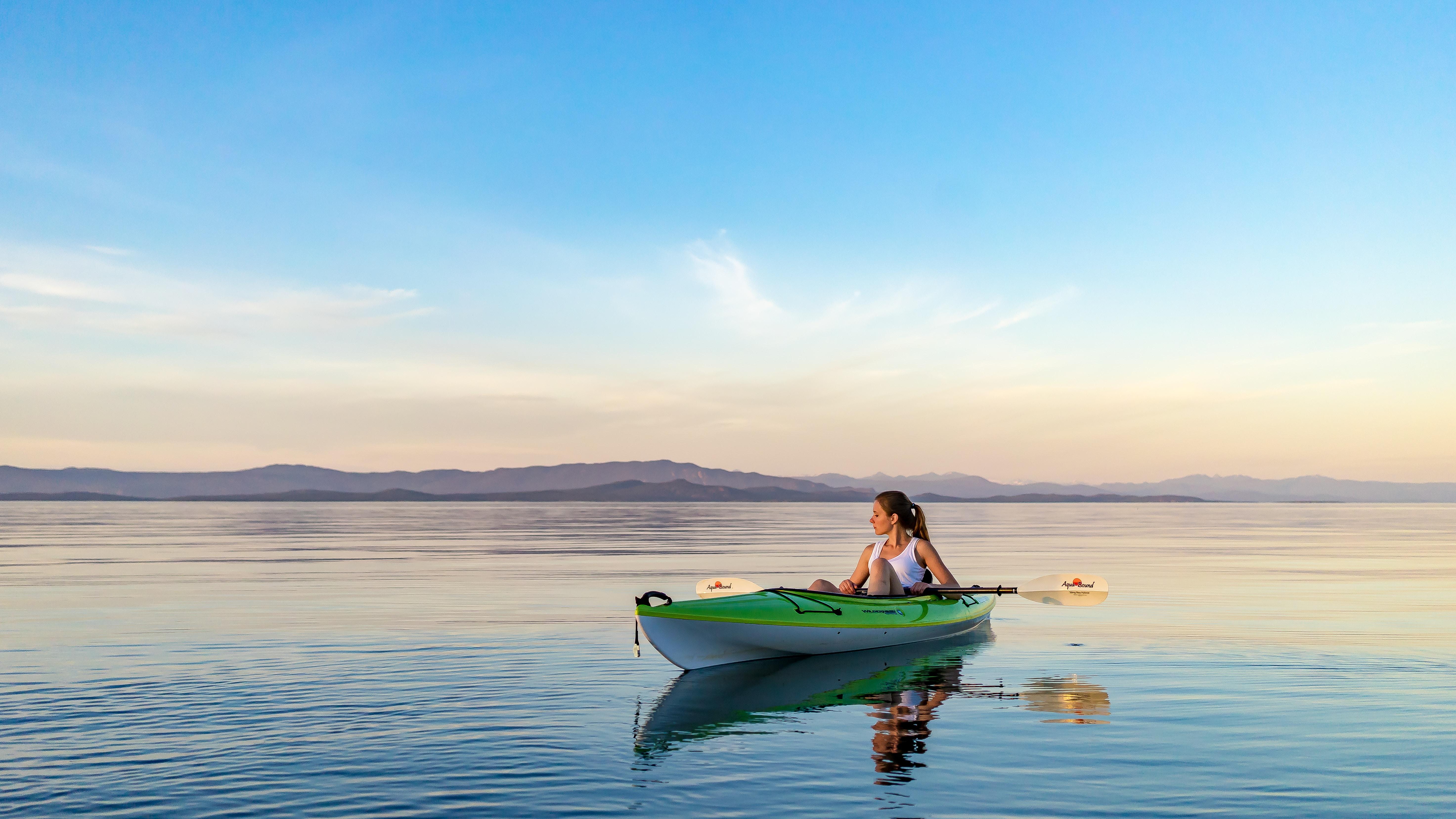 summer stock photos lake kayak