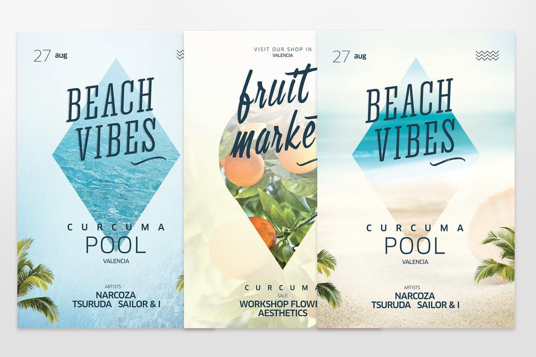 summer website themes flyer