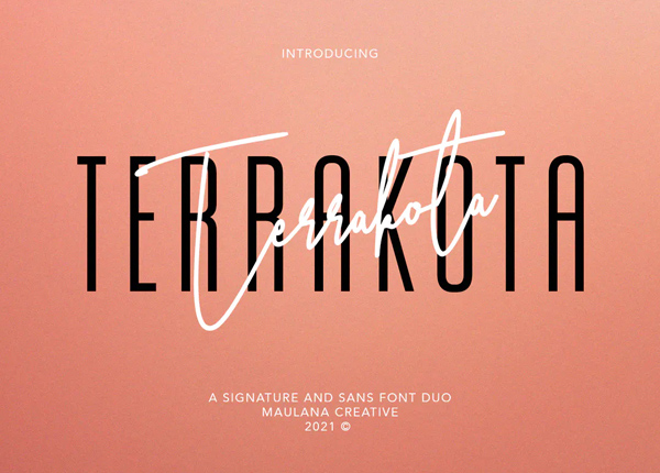 Terrakota Signature Sans Font Duo