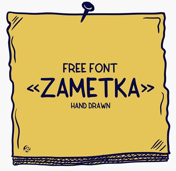 Zametka Free Font