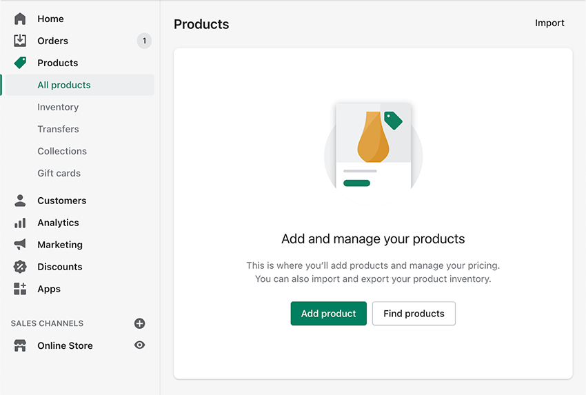 adding products to shopify