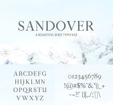 sandover serif web font similar georgia mulitlingual common font similar to Georgia