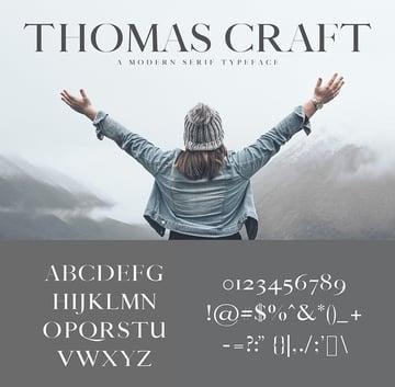 thomas craft web font modern 4 weight similar to georgia